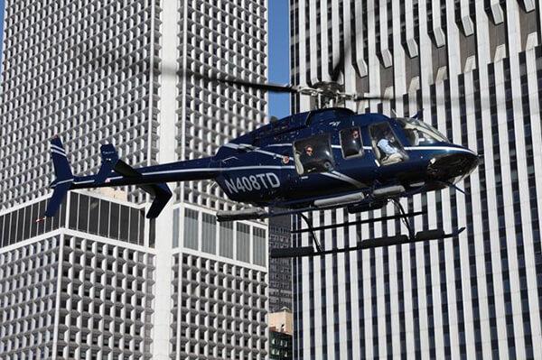 Helikopter fra flyplassen