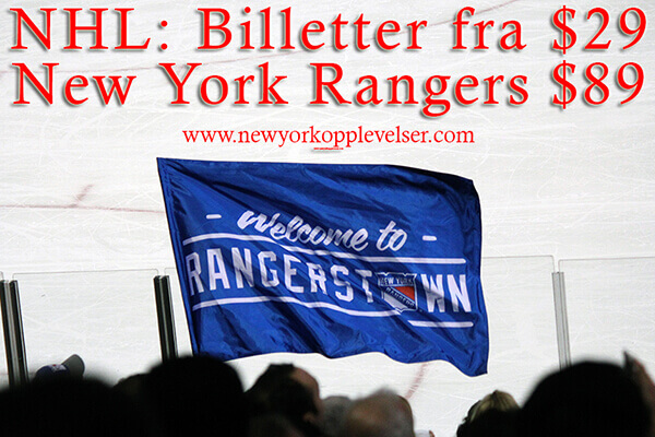 Nhl new york rangers billetter